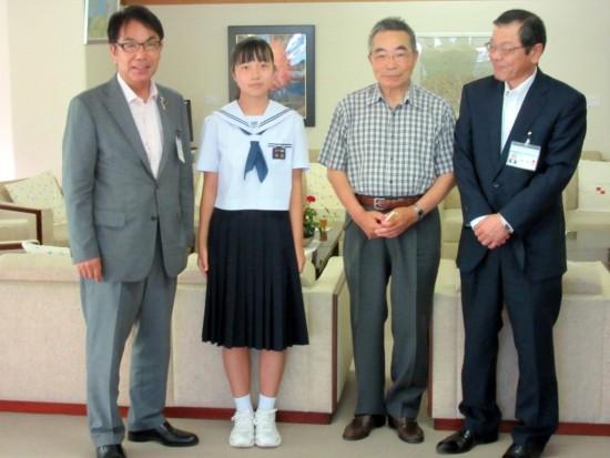 平谷市長、福島さん、大福さん、佐藤教育長
