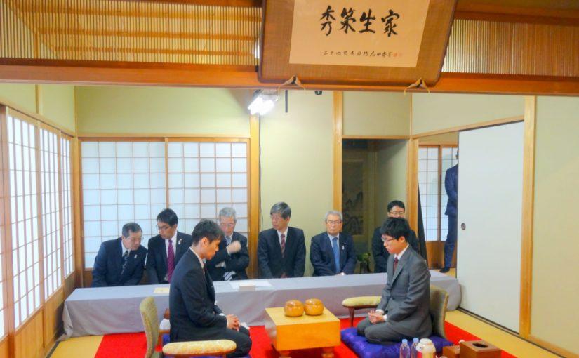 5月9日、本因坊秀策囲碁記念館で本因坊戦の対局がはじまりました。